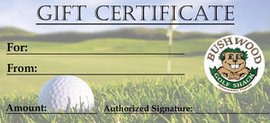 Gift Certificates - Bushwood Golf Shack