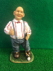 "8 "" Old Man Golfer Figurine"