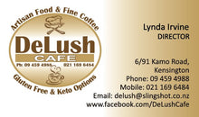 Load image into Gallery viewer, DeLush Cafe - Whangarei