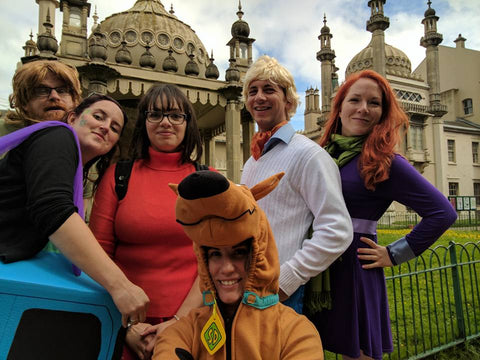 Aa team dressed up as Scooby Doo characters for a CluedUpp event