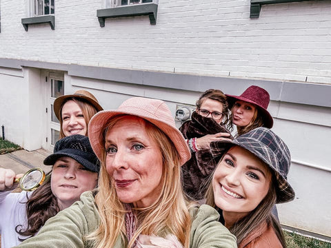 A team of female detectives at at CluedUpp game