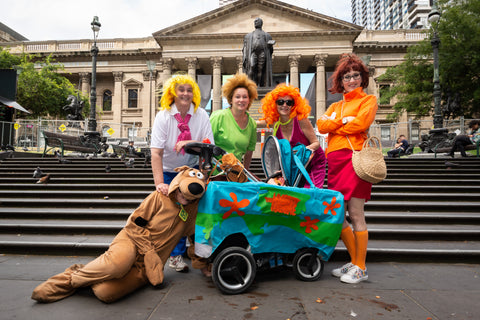 Players dressed up as Scooby Doo characters at a CluedUpp Game