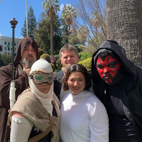 CluedUpp players dressed up as Star Wars characters