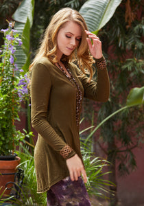 Darted Long Sleeve Tunic