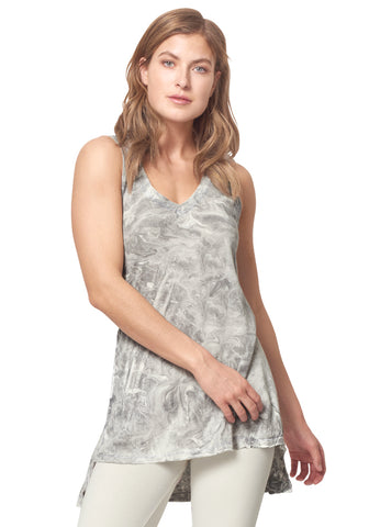 *Drop Hem Tank Tunic, hand-dyed*