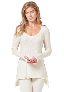 *Drop Hem Long Sleeve Tunic*