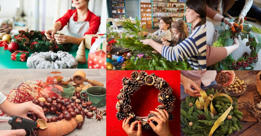 How to make a wreath step by step?