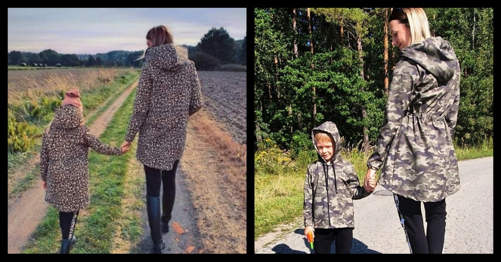 Waterproof Coats For Mums And Kids From A Softshell Material