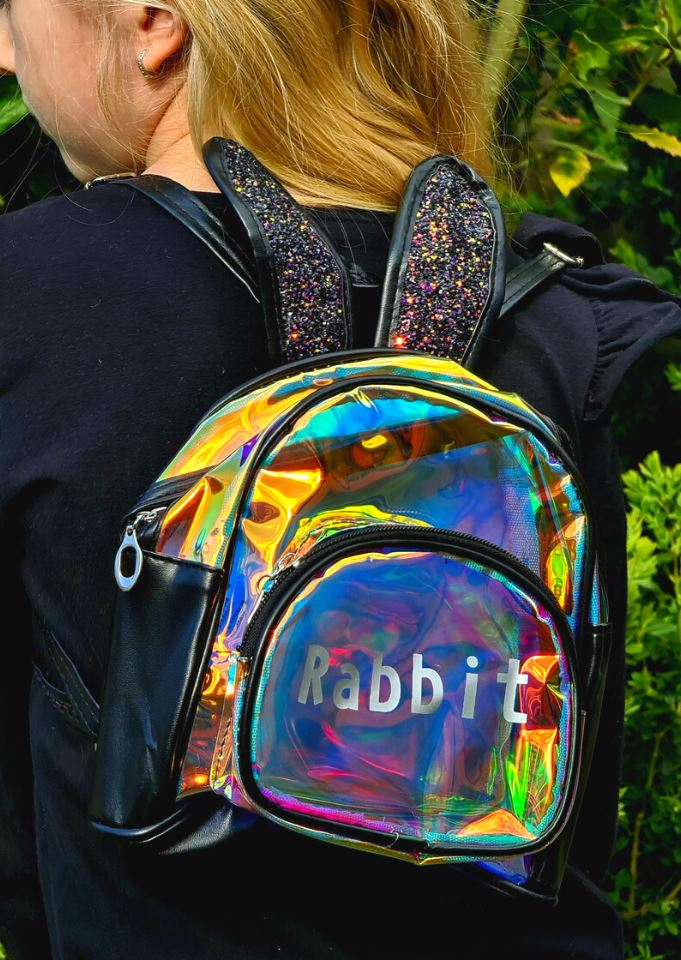 Black bunny backpack Backpacks
