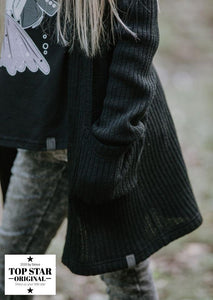 Black cardigan with pockets Cardigans