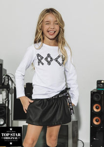 Black eco-leather skirt ROCK STAR Skirts