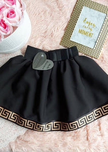 Black Skirt With Pattern Skirts