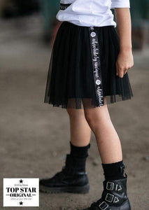 Black tulle skirt with ribbons Skirts