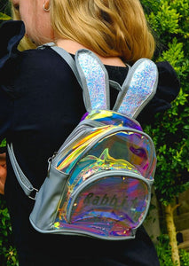 Grey bunny backpack Backpacks