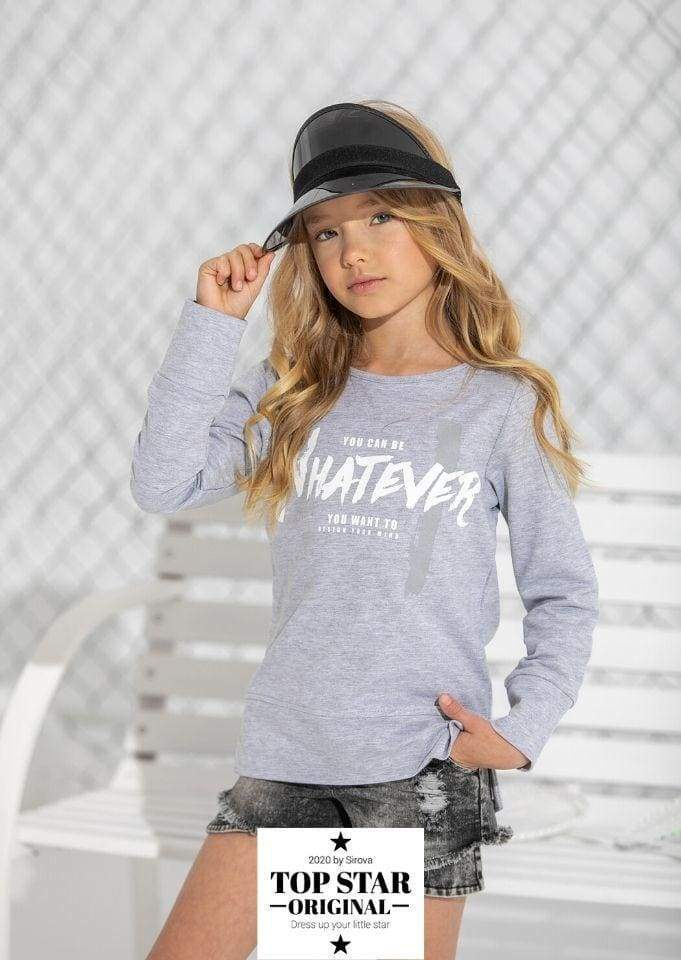 Grey sweatshirt with print Sweatshirts