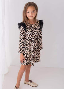 Leopard print long sleeve dress Dresses