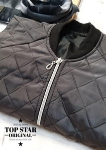 Quilted grey bomber jacket Jackets