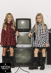 Red and black checkered dress Dresses