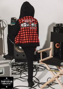 Red and black checkered sweatshirt Sweatshirts