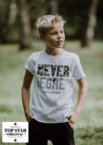 White T-shirt NEVER REGRET T-shirts