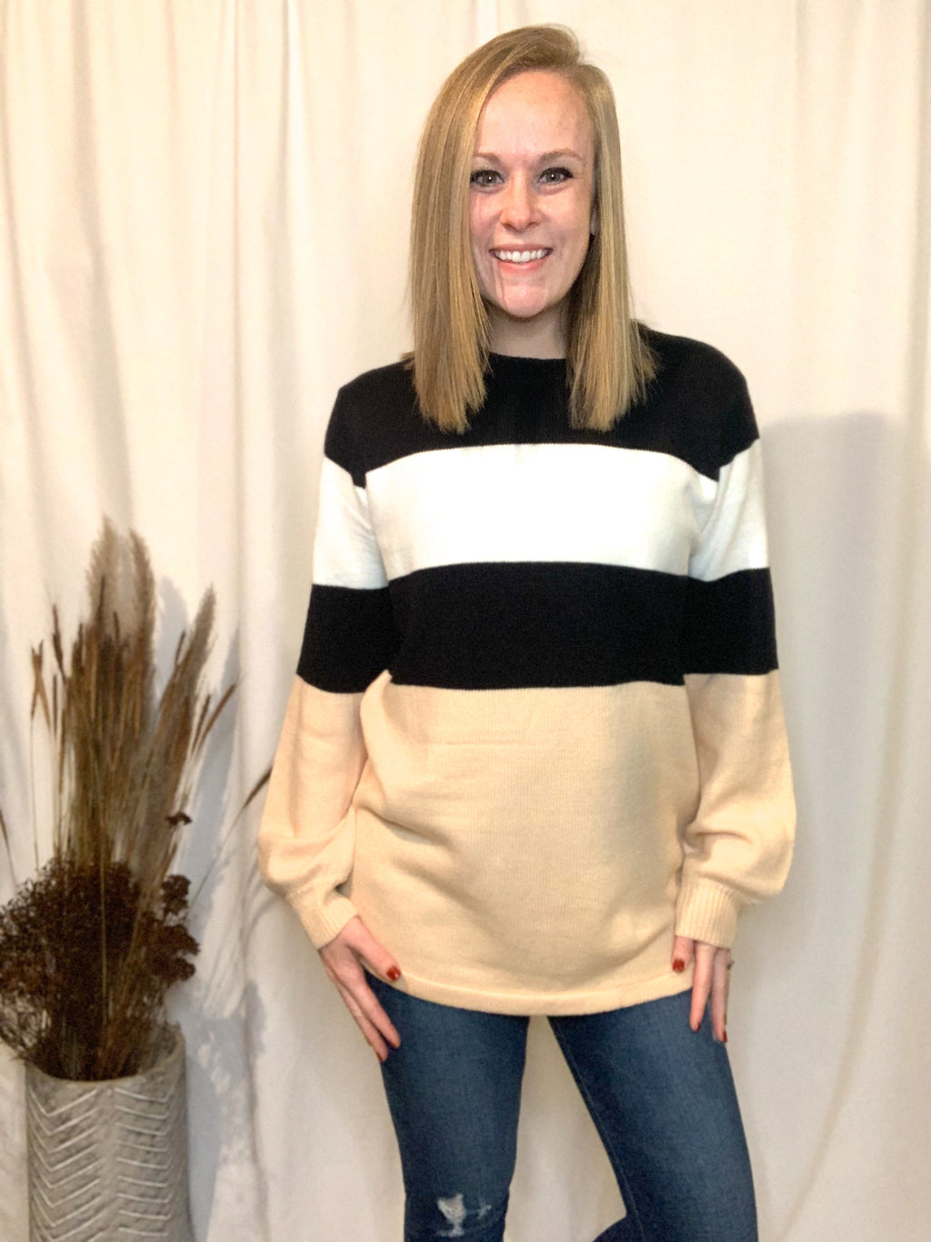 Tina Color Block Sweater