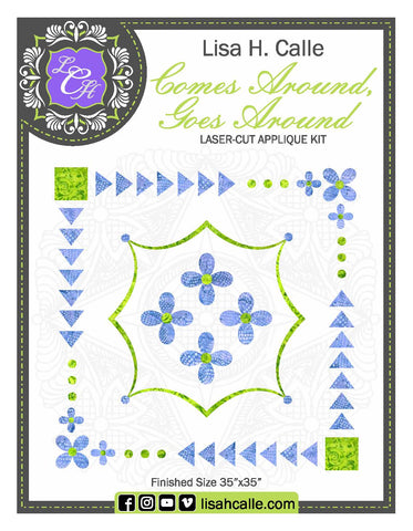 Comes Around, Goes Around Fusible Kit with Background and Binding Fabric