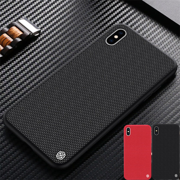 NILLKIN Textured Nylon Fiber Case Durable Non-slip Thin and Light Back Cover for iPhone X Models