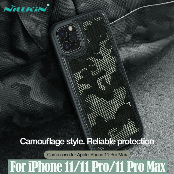 NILLKIN Camo Case Camouflage Pattern Cloth Anti Water-Splashing Back Cover For iPhone 11
