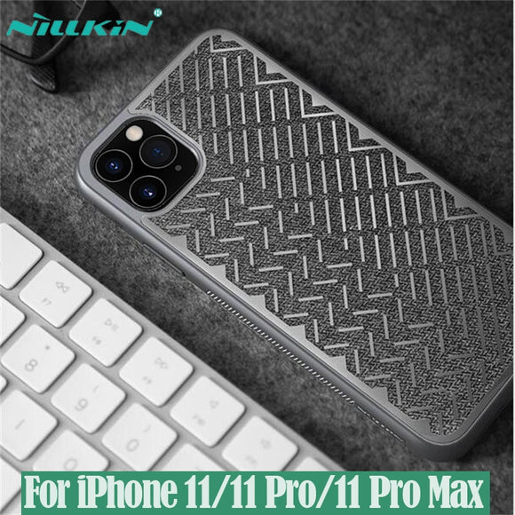 NILLKIN Herringbone Case Light Reflective Polyester Waterproof Back Cover for iPhone 11