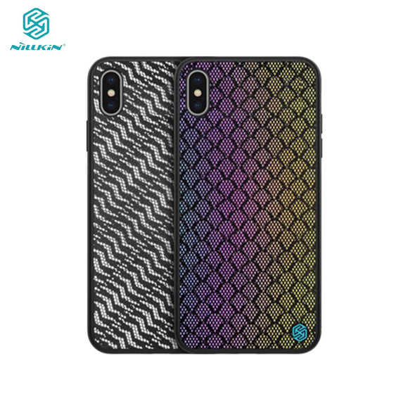 NILLKIN woven polyester mesh Reflective Phone Case for iPhone X, XS, XS Max