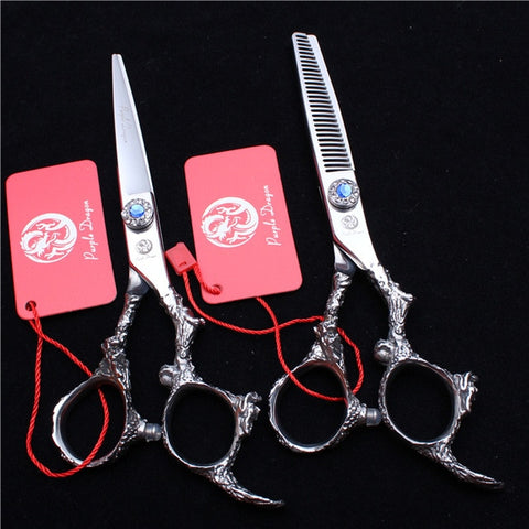 5.5In. 16cm 440C Purple Dragon Shiny Hairdressing Scissors