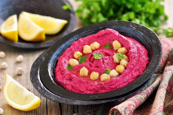 Our FAVOURITE beetroot hummus recipe!