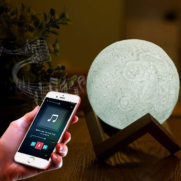 Moon Lamp with Bluetooth Speaker - Lamps From Space