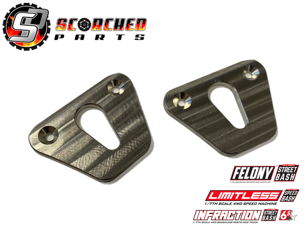 Titanium Rear Skid plates - Arrma Infraction / Limitless / Felony