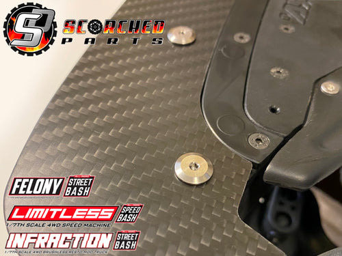Front Splitter Titanium Screw Set - Arrma Infraction / Limitless / Felony (Replaces ARA727308)