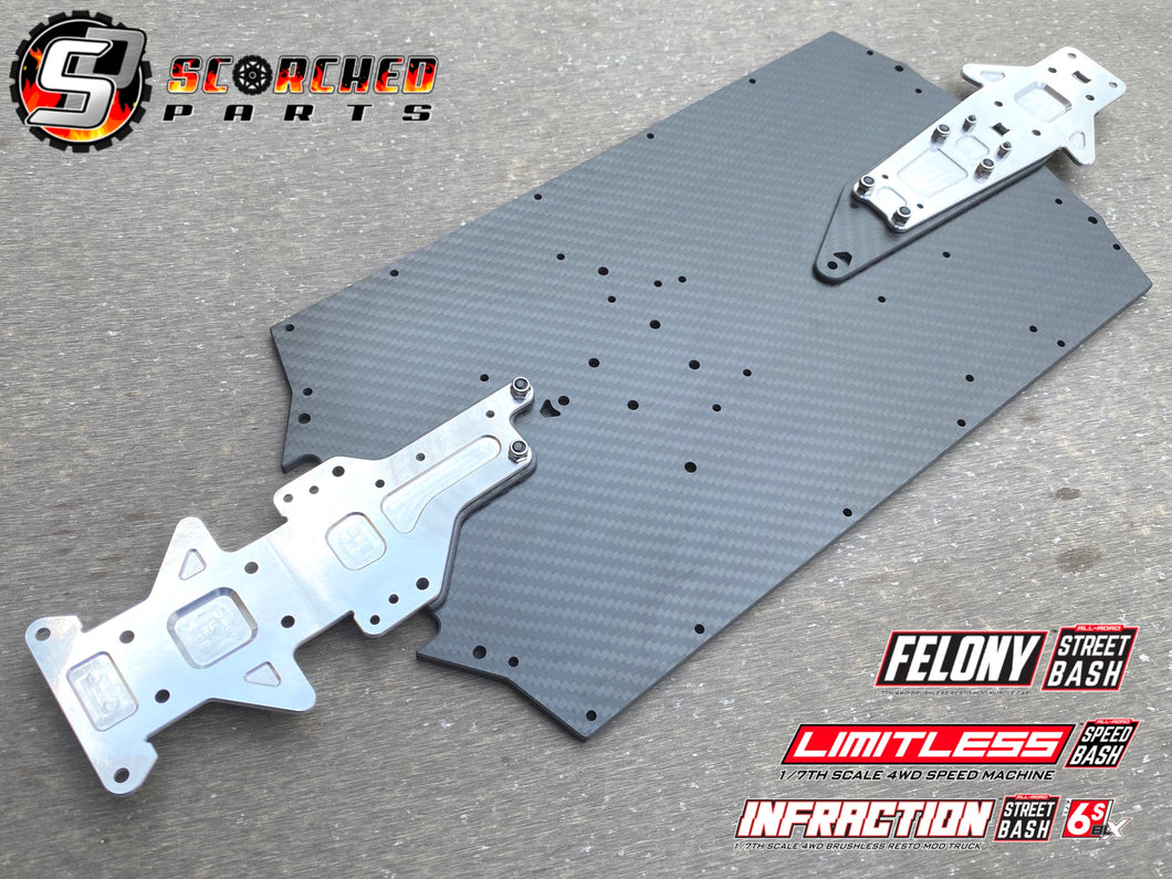 Carbon Fibre Chassis Standard Width - Limitless, Infraction and Felony