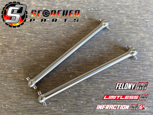 Titanium Rear Axle Shaft Pair - Arrma Infraction / Limitless / Felony / Typhon