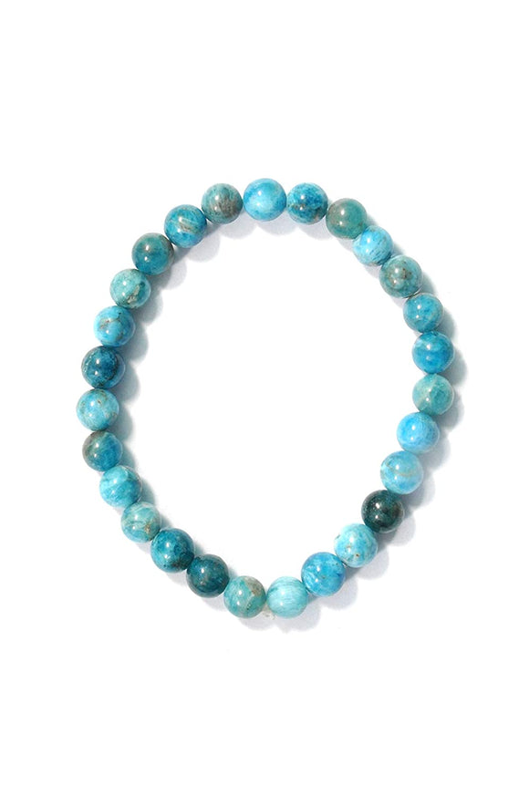 Tibettian Heart - Original Apatite Stone Anklet (Colour May Be SkyBlue Or Dark Green) - 1 Pc