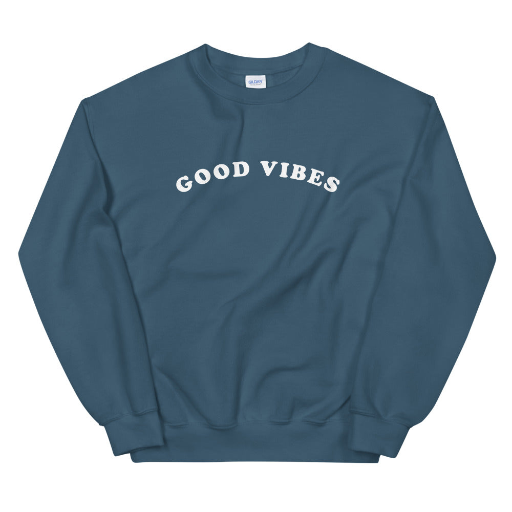 Good Vibes Sweatshirt in Indigo