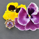 Amethyst Flower Cocktail Ring