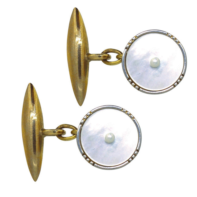 vintage pearl cuff links