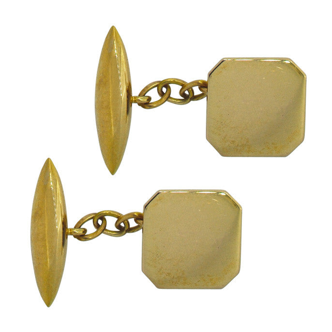 vintage gold cuff links