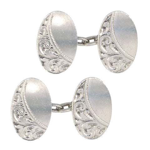 Antique Silver Cuff Links