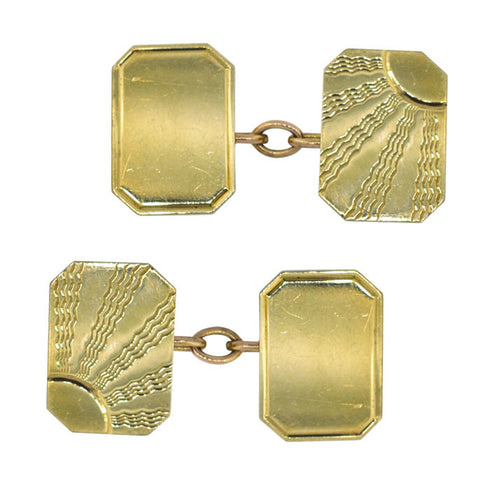 9ct Gold Cuff Links