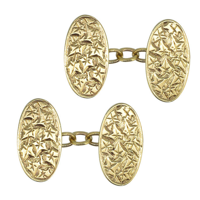 1920s gold cuff links
