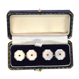 Ruby & Mother of Pearl Cufflinks