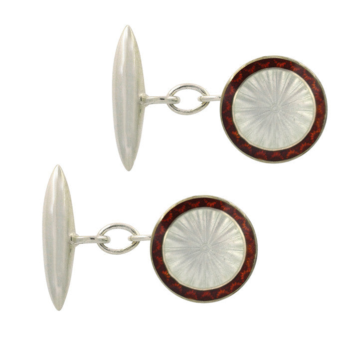antique enamel cuff links