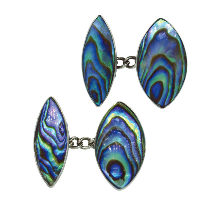 abalone cuff links