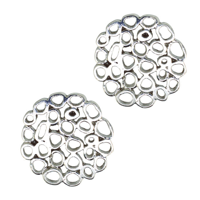 Silver 'Bubble' Cuff Links