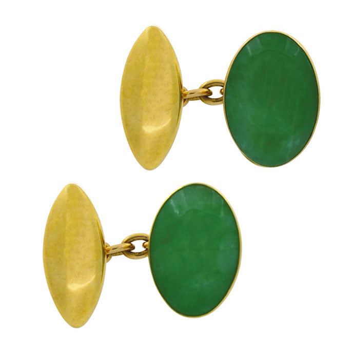 Jade Cuff Links